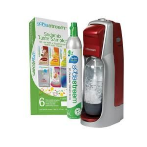 SodaStream Fountain Jet Home Soda Maker Starter Kit in Red 1012111016