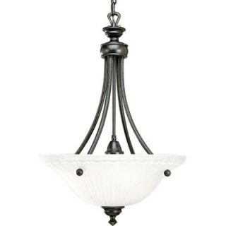 Progress Lighting Renovations Collection 3 Light Forged Bronze Foyer Pendant P3608 77