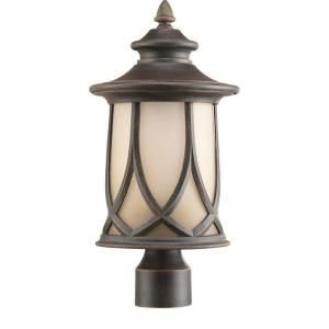Progress Lighting Resort Collection 1 Light Outdoor Aged Copper Post Lantern P6404 122DI