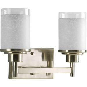 Progress Lighting Alexa Collection Brushed Nickel 2 light Vanity Fixture P2977 09