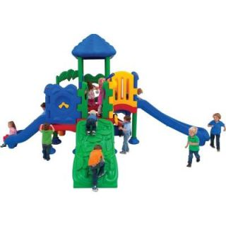 Ultra Play Discovery Center Commercial Playground 5 Deck with Roof Anchor Bolt Mounting DC 5XLG/02 08 0210