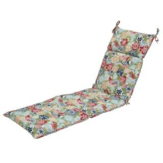 Hampton Bay Jean Floral Outdoor Chaise Lounge Cushion 7407 01002000