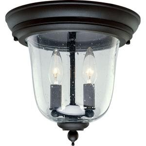 Progress Lighting Ashmore Collection 2 Light Outdoor Textured Black Flushmount P5562 31