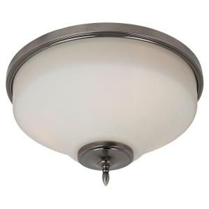 Sea Gull Lighting Montreal 3 Light Antique Brushed Nickel Flush Mount Fixture 75180 965