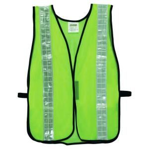 Cordova Hi Vis Lime Green Mesh Safety Vest One Size Fits All V121W