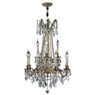 Worldwide Lighting Windsor Collection 12 Light Crystal and Antique Bronze Chandelier W83309B24