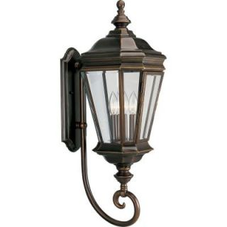 Progress Lighting Crawford Collection Oil Rubbed Bronze 3 light Wall Lantern P5672 108