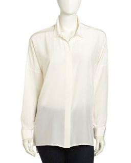 Lot Slim Silk Blouse, White