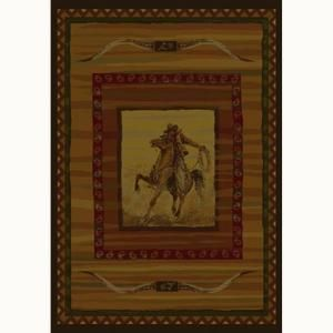United Weavers Rawhide 5 ft. 3 in. x 7 ft. 6 in. Contemporary Lodge Area Rug 130 34043 58