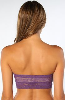 Free People Bandeau Stretch  Lace Bandeau Top in Purple