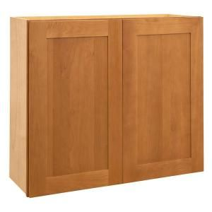 Home Decorators Collection Assembled 30x30x12 in. Wall Double Door Cabinet in Hargrove Cinnamon W3030 HCN