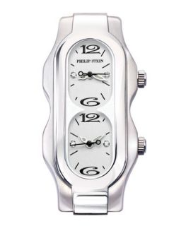 Mini Signature Stainless Steel Case, White Dial, Size 4