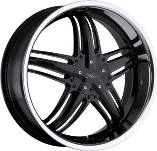 Milanni Force 22 Black Wheel / Rim 5x110 & 5x115 with a 32mm Offset and a 74.1 Hub Bore. Partnumber 457 22868BS32 Automotive