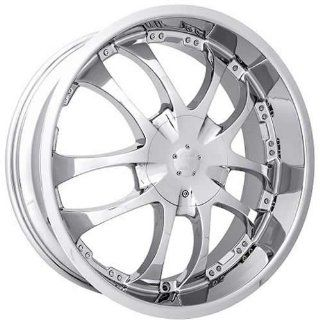 Strada A Arm 20 Chrome Wheel / Rim 5x115 & 5x120 with a 15mm Offset and a 72.6 Hub Bore. Partnumber H13050115 Automotive