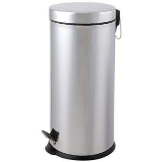Automatic Home Products 30 l Round Stainless Steel Step Lid Polished Trash Can SSTC30RW