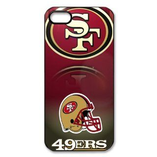 WY Supplier NFL Samsung Protector San Francisco 49ers Team Logo Case Cover for Apple Iphone 5 Fitted Cases cover Black Color WY Supplier 145843 Cell Phones & Accessories