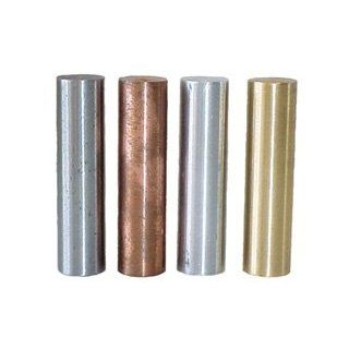 SEOH Specific Gravity Metal Specimen Set of 4 Aluminum Brass Copper Steel Science Lab Physics Classroom Supplies