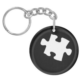 Missing Puzzle Piece Acrylic Key Chains