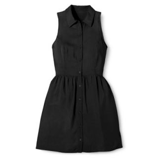 Merona Womens Woven Sleeveless Shirt Dress   Ebony   2