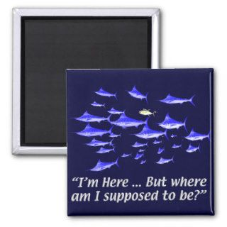 Confused tuna   Senior Citizens Fridge Magnet
