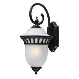 Hampton Bay Pacifica Collection Imperial Bronze finish 1 Light 9 in. Wall Lantern DISCONTINUED THD15146B