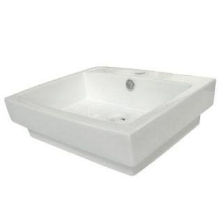 Kingston Brass Wall Mounted Bathroom Sink in White HEV4024
