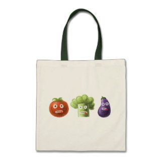 Funny Cartoon Vegetables Canvas Bags