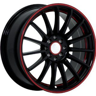 Ruff R950 17 Black Red Wheel / Rim 5x100 & 5x4.5 with a 40mm Offset and a 73.1 Hub Bore. Partnumber R950GJ5BF40N73 Automotive