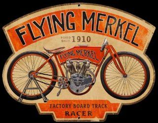 Flying Merkel Die Cut Sign Automotive