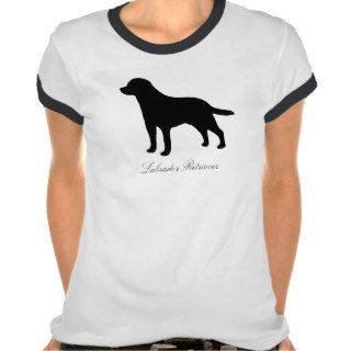 Labrador Retriever dog silhouette womens t shirt