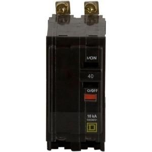 Square D by Schneider Electric QO 40 Amp Two Pole Bolt On Circuit Breaker QOB240