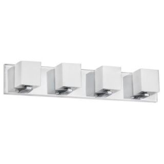 Filament Design Catherine 4 Light Halogen Polished Chrome Vanity with Frosted Glass Shades CLI DN14123044