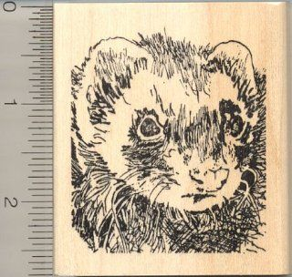 Ferret Rubber Stamp