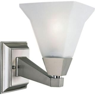 Progress Lighting Glenmont Collection Brushed Nickel 1 light Vanity Fixture P3135 09