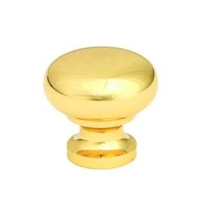 Giagni 1 1/4 in. Polished Brass Round Knob (150 Pack) KB 6BR 1 150