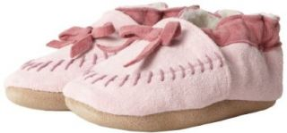 Robeez Cozy Moccasin PK Crib Shoe (Infant/Toddler),Pink,6 12 Months M US Infant Shoes