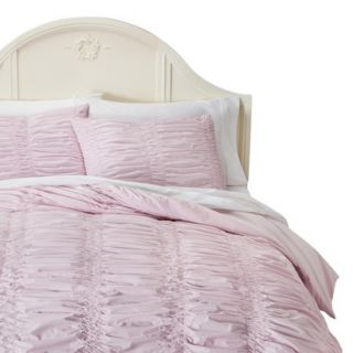 Simply Shabby Chic Textured Duvet Cover Cover Set   Pink (Twin)