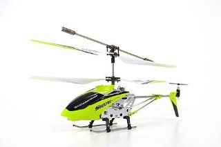A Set of 2 Brand New Genuine Syma S107G 3 Channels Mini Indoor Co axial Metal Body Frame & Built in Gyroscope Rc Remote Controlled Helicopters (1) Blue and (1) Green with 2 AC Chargers