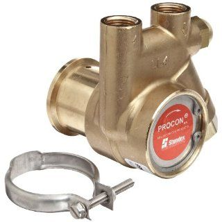 "Procon 141A025F11CA Low Lead Brass Rotary Vane Pump, 3/8"" NPTF, 35 GPH Industrial Rotary Vane Pumps"