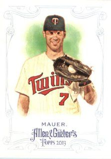 2013 Topps Allen and Ginter Trading Card # 128 Joe Mauer Minnesota Twins Sports Collectibles