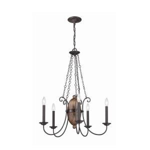 Albero Collection 5 Light Forged Iron Chandelier 25606 010