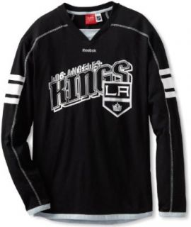 NHL Los Angeles Kings Long Sleeve Jersey T Shirt, Medium, black  Sports Fan T Shirts  Clothing