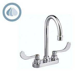 American Standard 7500.145.002 Monterrey Centerset 0.5 Gpm Lavatory Faucet with Gooseneck Spout and VR Metal Lever Handles Less Drain, Polished Chrome   Touch On Bathroom Sink Faucets