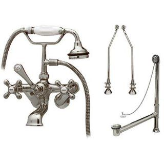 Randolph Morris Wall Mount Tub Faucet Set   Bathtub And Showerhead Faucet Systems