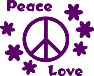 Design with Vinyl Design 167 Love Peace with Peace Sign Home Picture Art   Peel and Stick Vinyl Wall Decal Sticker, 10 Inch By 20 Inch, Purple