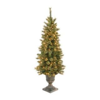 National Tree Company 4 ft. 100 Light Glittery Gold Artificial Pine Tree GPG3 313 40