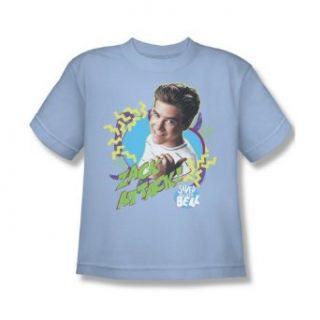 Saved By The Bell Zack Attack Youth Light Blue T Shirt NBC154 YT Fashion T Shirts Clothing