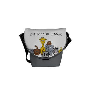 Cute Cartoon Jungle Animals Mom's Bag Messenger Bags