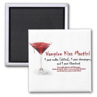 Vampire Kiss Martini Drink Recipe Fridge Magnet