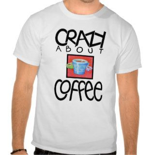Crazy about Coffee black Ladies T shirt